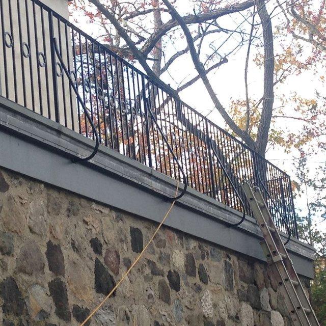 Exterior Iron Balcony Railing - Danbury, CT | R & G ...